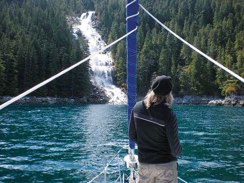 waterfalls - Inside Passage sailing charters sail the san juans