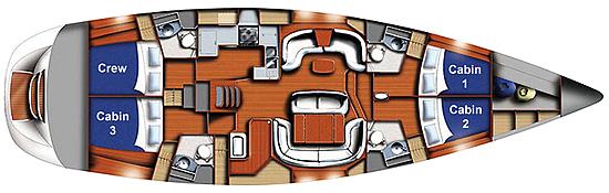Northwind floorplan - san juan island sailing tours